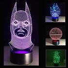 3D LED Night Light/Lamps, Star Wars Millennium Falcon, Yoda, Batman Table Lamps $22.99 USD on eBay
