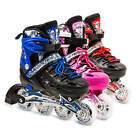LED Roller Blades Kids Adjustable Inline Speed Skates Womens Size 5.5-8 US