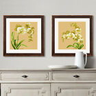 Orchid on Vintage Gold Background Stamped Cross Stitch Kit, 19.3 x 19.3inches