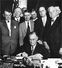 New Deal: President Franklin Roosevelt signs Tennessee Valley Act, 1933