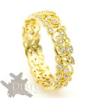 14ct YELLOW GOLD 1ct Created DIAMOND Handmade Leaf Engagement Wedding Band Ring