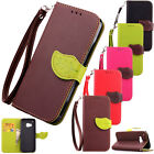 Hybrid PU Leather Wallet Pouch Card Flip Case Cover For HTC One M7 M8 M9 Phone