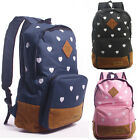 Fashion Heart Pattern Women Backpack Girls School Shoulder Bag Rucksacks Satchel