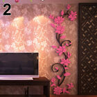 Home Living Room Decor 3D Flower Removable DIY Wall Sticker Decal Mural Happy
