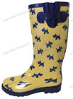 Women's Rain Boots Rubber Waterproof Colors Wellies Mid Calf Snow Boots, Sizes фото