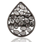 925 Sterling Silver CZ Gemstone Fashion Party Wear Ring Black Rhodium Jewelry