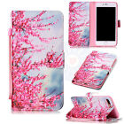 Cherry blossoms Flip Trend PU Leather Card Wallet Stand Case Cover For Phones #H