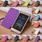 New Fashion Ultra-Thin Snap On Back PU Leather Flip Slim Case Cover For Huawei