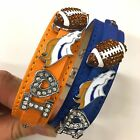 I Love Denver Broncos Rhinestone NFL Football Bracelet / Broncos Fans $10.0 USD on eBay