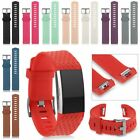 Replacement Watch Sports Soft Silicone Bracelet Strap Band For Fitbit Charge 2