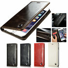 100% Genuine Leather Magnet Stand Flip Card Slot Case Cover for iPhone 7 Plus