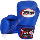 Twins Special Muay Thai Boxing Plain Gloves BGVL-3-BU Blue 8-10-12-14-16 oz.
