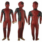 Kids Boys X men Deadpool Deluxe Outfit  Halloween Cosplay Costume Xmas Gift
