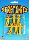 STRETCH SMILE MAN YELLOW STRETCHY MEN PARTY FILLER LOOT BAG FROM ONLY 15P A MAN