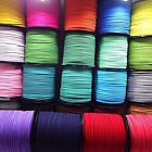 Lot 3mm Genuine leather Suede Cord Beading Thread Lace Flat Jewellery Making DIY