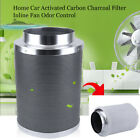 "4"" 6"" 8"" 10"" Inch Carbon Charcoal Inline Fan Odor Control Scrubber Grow Light"