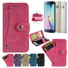 Leather Removable Wallet Flip Stand Card Case Cover For Samsung Galaxy S7 Edge