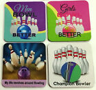 TENPIN BOWLING 4PKT of COASTERS  Heaps of designs to choose from - PERFECT GIFT