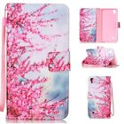 ZD Magnetic Flip Cover Stand Wallet Leather Case For CellPhones Red Plum Blossom
