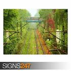 TRAIN PASSING BY (AB025) TRAIN POSTER - Photo Picture Poster Print Art A0 to A4