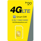 H2O Wireless Micro Sim Card with First Month Included : $60 Plan H20