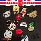 Embroidered Iron or Sewing Thermo Cloth Patches Mickey Red Rock Vintage Disney £3.32 GBP on eBay