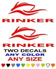 RINKER BOAT STICKERS ANY COLOR  ANY SIZE   FISHING
