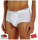 FRUIT OF THE LOOM or HANES WHITE BRIEF MEN IN FAMOUS BRAND BAG