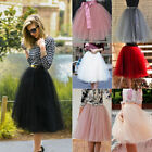 Short Tulle Mid-calf Colourful Dresses Women Girl Ball Gown Thick Skirts Regular