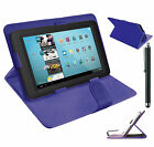 Plain PU Leather Flip Case Cover For Amazon Kindle Fire HD 10'' Inch Tablet +Pen