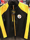 PITTSBURGH STEELERS G-III Sports Soft Shell 3-Layer Bonded Full-Zip Jacket Black