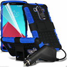 Shockproof Dual Layer Heavy Duty Case Cover+In Car Phone Charger for Samsung