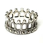 MARCASITE CROWN RING Medieval Vintage Style .925 Sterling Silver (SIZE 6,7,8)