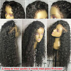 Brazilian Full Lace Human Hair Wigs Virgin Deep Curly Glueless Lace Front Wigs