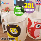 Animals Foldable Dirty Clothes Laundry Basket Toddler Baby Storage Bag 40*50cm