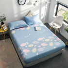 Floral King/Single/Queen Size Bed Fitted Sheet Pillowcases Set 100% Cotton New