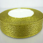1Roll 25yards Glittering Gold Christmas Ribbon for craft ribbon bow Decorates