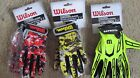 New Wilson Football Receiver's Gloves Super Grip Silicone Palm