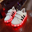 New Child Baby USB Charger Luminous LED Lights Lace UP Casual Sneakers Shoes