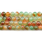Natural Peacock Agate Gemstone Round Beads 15'' 6mm 8mm 10mm 12mm