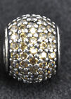 Authentic Pandora Charm Golden Colored CZ Pave Lights 791051FCZ Sterling Silver