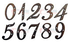 4 inch Rustic Cast Iron Metal House Numbers Street Address Pick #'s from 0-9