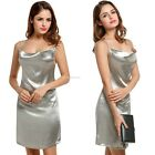 Women Sexy Halter Backless Shining Color Clubwear Party Cocktail Mini Dress