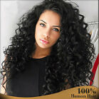 TOP 7A  Soft Curly 100% Brazilian Remy human hair full/front lace wigs Baby Hair