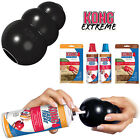 KONG Extreme Black Tough Dog Toy Teething Chew Snack Easy Treat Dispenser Paste