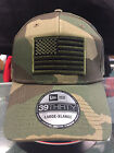 New Era NE1000 Camo FlexFit Hat/Cap With Green American Flag