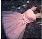Pink Short Evening Cocktail Formal Party Ball Bridesmaid Wedding Prom Gown Dress