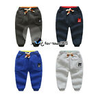 Winter Boy Baby Child Kids Black Cat Fleece Teeth Sports Pants Trousers 2-7Y
