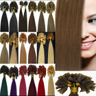 "TOP 16""18""20""22""26"" 100S U Nail Keratin Tip Remy Straight Human Hair Extensions"