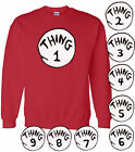 Dr Seuss Thing 1,6,7,8,9 crewneck sweatshirt Thing 2,3,4,5 shirt Youth Costume